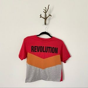 Urban Outfitters Chevron Revolution Tee Red Grey